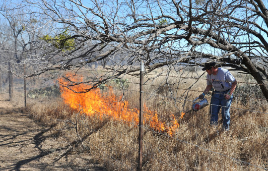 Controlled burning is an important component for resource and range management.