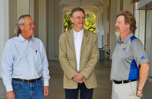 Drs. Terry Dalrymple, Laurence Musgrove and John Wegner