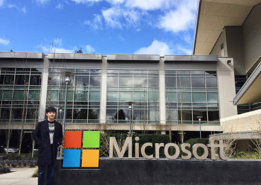 Deok just landed a job at Microsoft headquarters in Redmond, Wash.