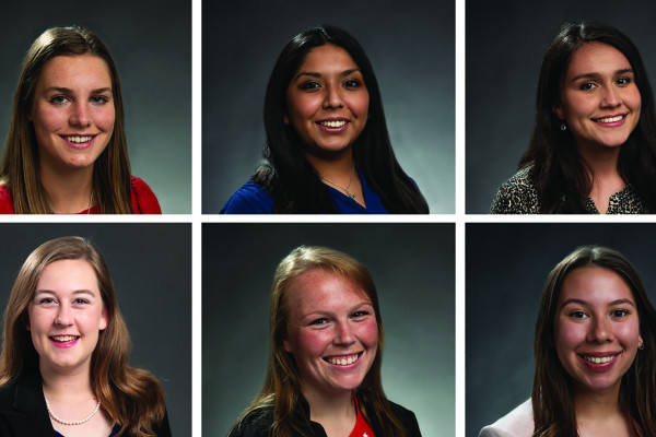 Top (L-R) Marissa Brezgiel, Byanca Sanchez and Crystal Mendez; Bottom (L-R) Kate Creecy, Caylee G...