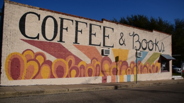 Coffee 101 Mural, located at 101 Main St.