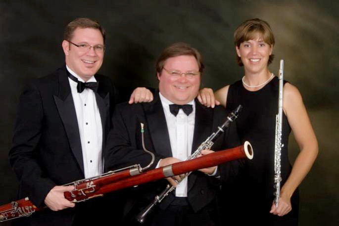 Dr. Jeff Womack (left) with Mesquite Trio partners, Dr. Timothy Bonenfant and Dr. Constance Kelley