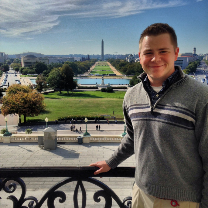 Chase Sauvage on the Speaker's Balcony at the Capitol