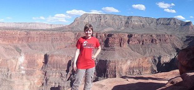 Holly Miles on her NCHC Partners in the Park trip to the Grand Canyon