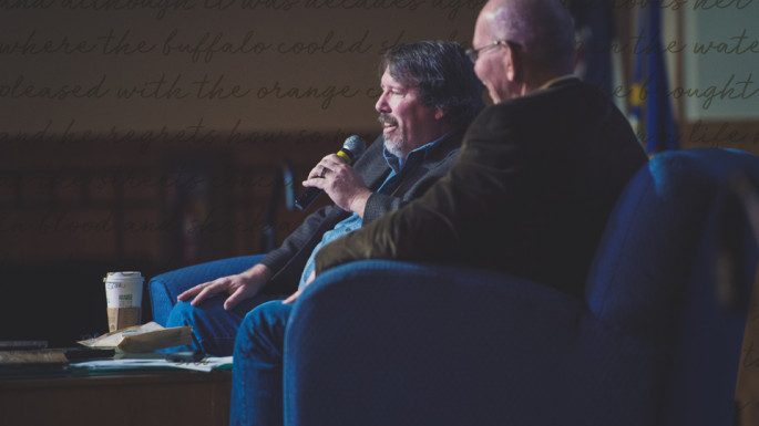 Poet and memoirist Brian Turner held a question-and-answer session with ASU's Dr. Chris Ellery during the 22nd Annua...