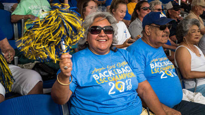 Maria de los Santos Onofre-Madrid has been cheering on the Rams and Rambelles for 35 years, both in and outside of the cla...