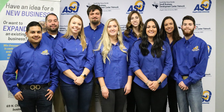 Angelo State Student Business Plan Team group photo