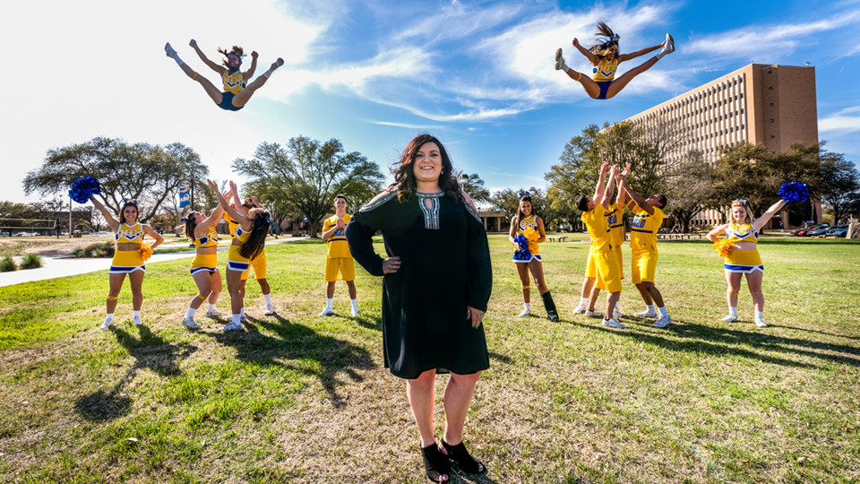 First-year coach Kaylee Feece made history and led the ASU Cheer Team to a 2018 National Championship.