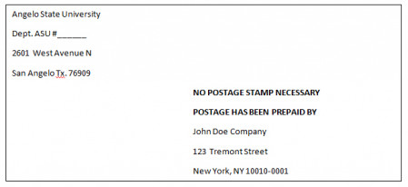 Prepaid Letters and Mailing