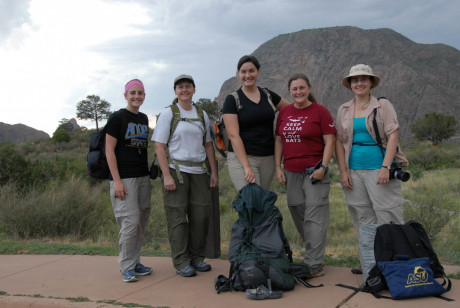 Ammerman and students working in Big Bend National Park