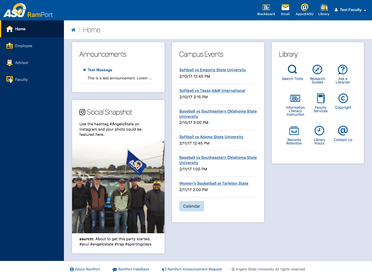 Faculty Home Page