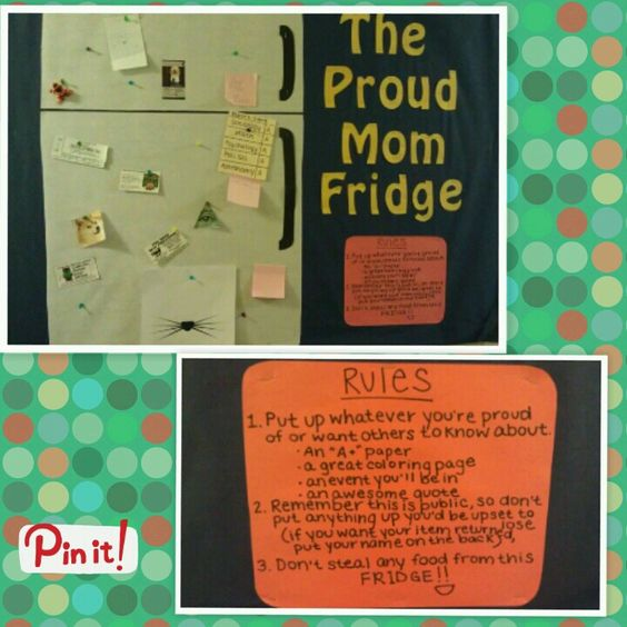 Proud Parent Fridge Bulletin Board