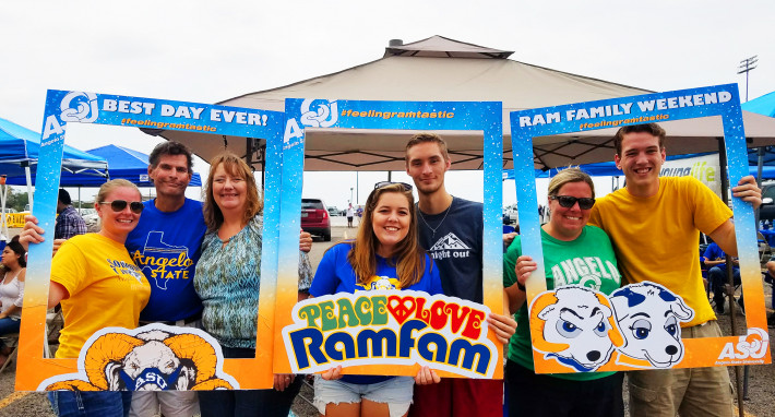Members of the ASU Ram Family enjoy Family Day at Ram Jam.