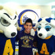 New Ram student with Roscoe and Bella.