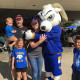 Family photo with Roscoe at Ram Jam at Angelo State University