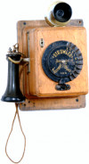 Strowger Early Dial Wall Type Telephone (1897 and after)