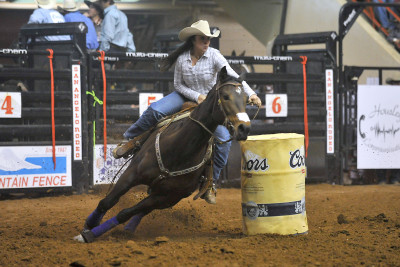 Barrel Racing at the San Angelo Rodeo