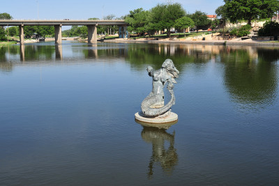 Mermaid Statue on the San Angelo River Walk