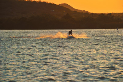 Jet Skier on Lake Nasworthy