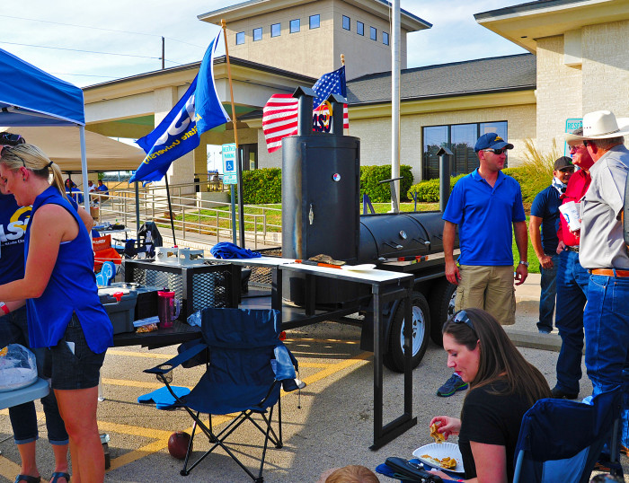Fans barbecuing at Ram Jam