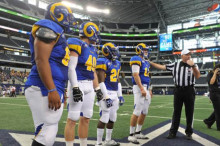 Coin toss at Lone Star Football Festival 2012