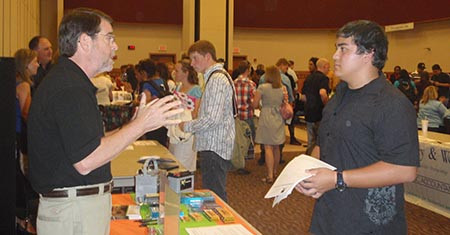 Students attending Part-Time Job Fair