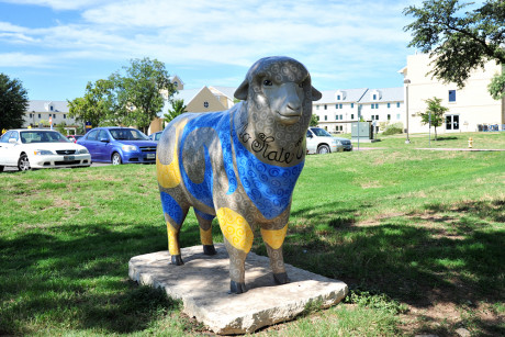 The sheep sculpture is a strong symbol of the pride at Angelo State University.