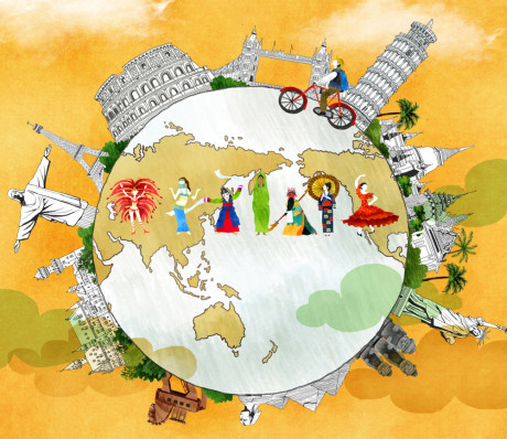Illustration of world cultures.