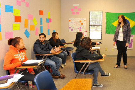 Students in Angelo State University's English Language Learners' Institute attend small classes w...