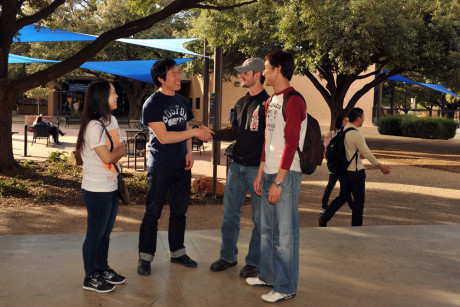 Students in Angelo State University's English Language Learners' Institute get to meet and interact with other students on campus.