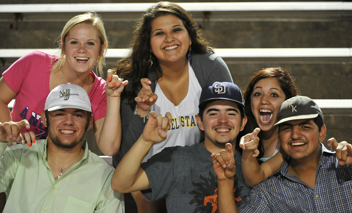 Angelo State students get involved at sporting events on campus.