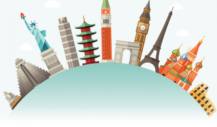 These are different landmarks all over the world.