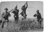 Photo of training that was held in Alpine of the TX state Guard in 1943.