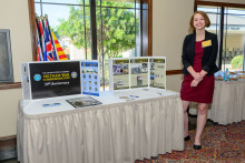Student Assistant Keely Shaw at an event to honor Vietnam Veterans on March 29, 2018.