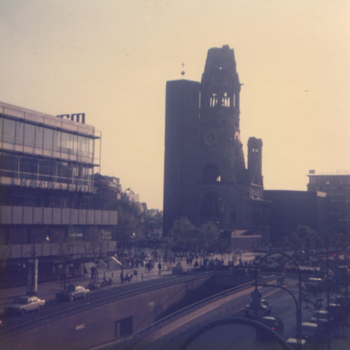Bombed out church Kudam, Berlin Germany 1985