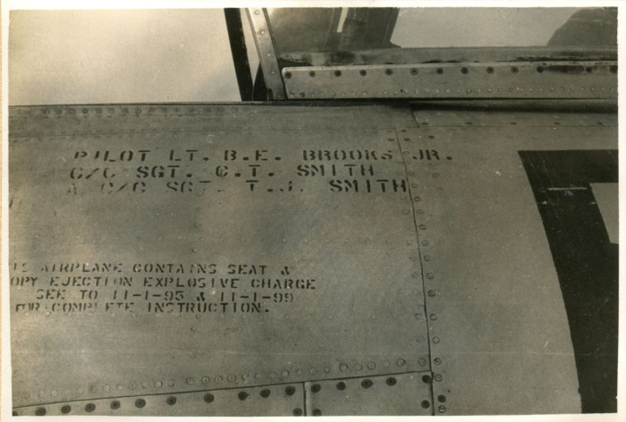 Information written on the side of the plane