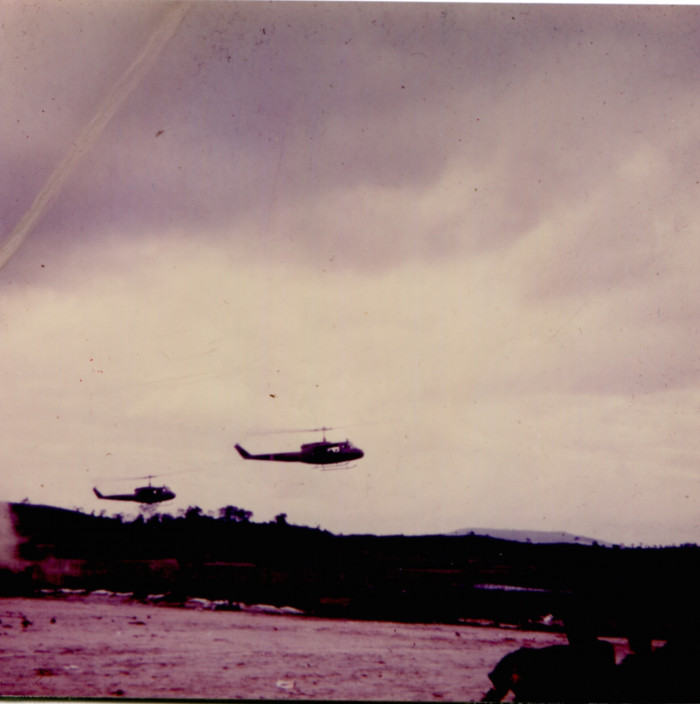 Huey helicopters in Vietnam (circa October, 1967-September, 1968).