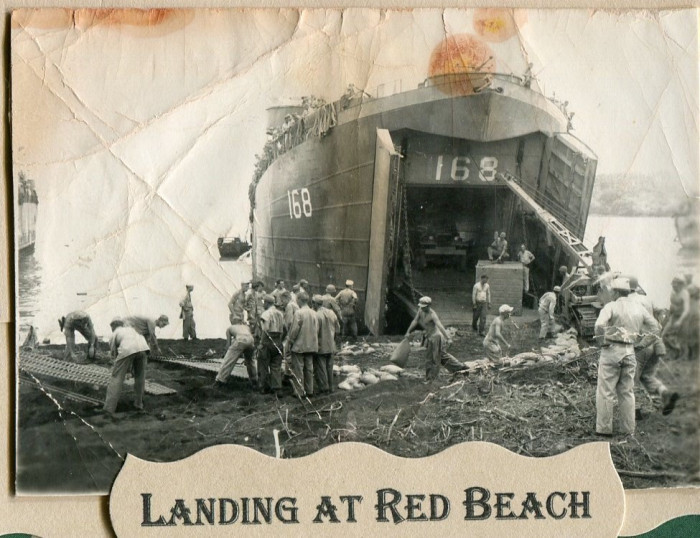 Landing at Red Beach, Luzon, Philippines (circa 1945)