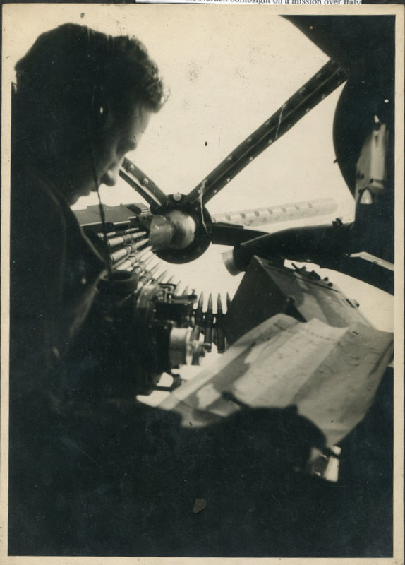Photo of Clark Alysworth in a plane sent to Miller