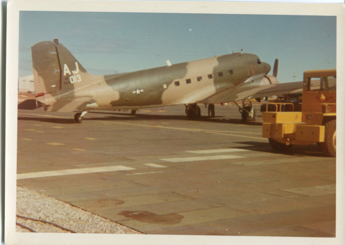"Caption on the back reads, ""This is one of our 'Electrified Goonys' EC-47. Nice pa..."
