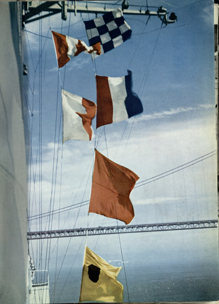 Flags on the side of the carrier