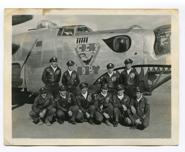Boyce's crew posed outside of their bomber