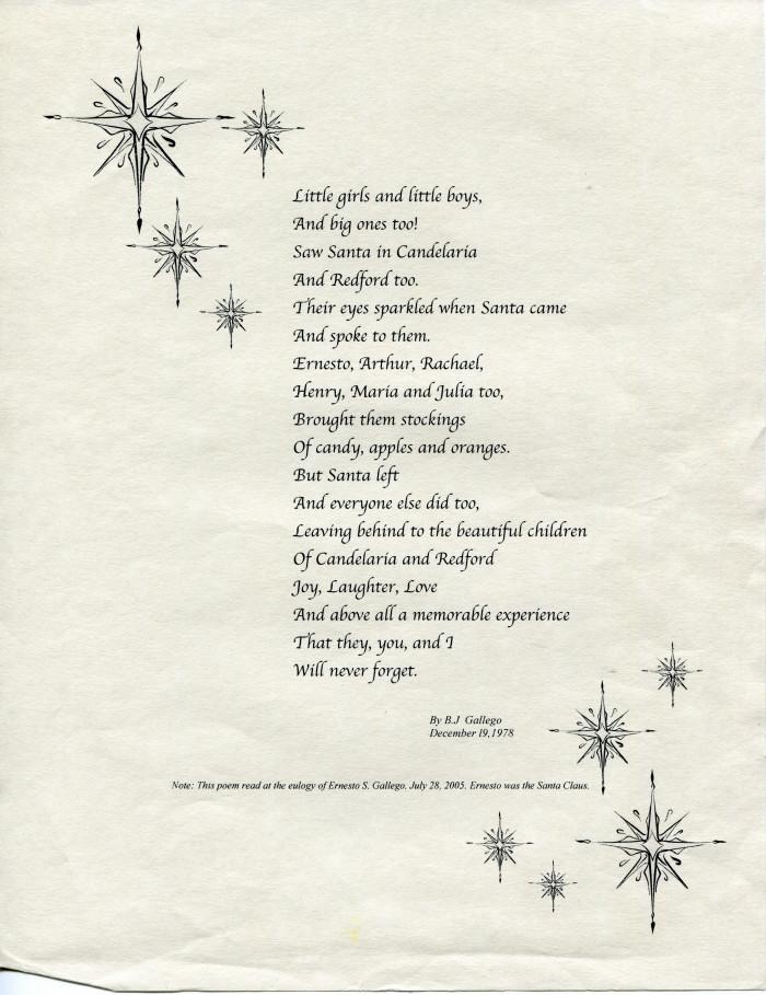 poem by bl gallego