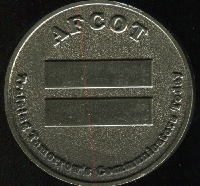Air Force Communications coin. Side B shown.