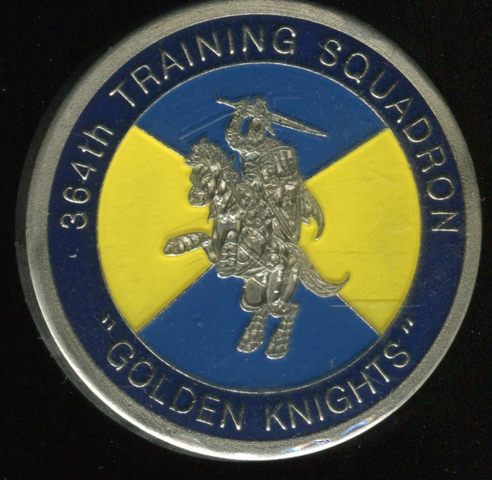364th Training Squad Coin. Side B pictured. Spooner oversaw this unit, and these coins were given...