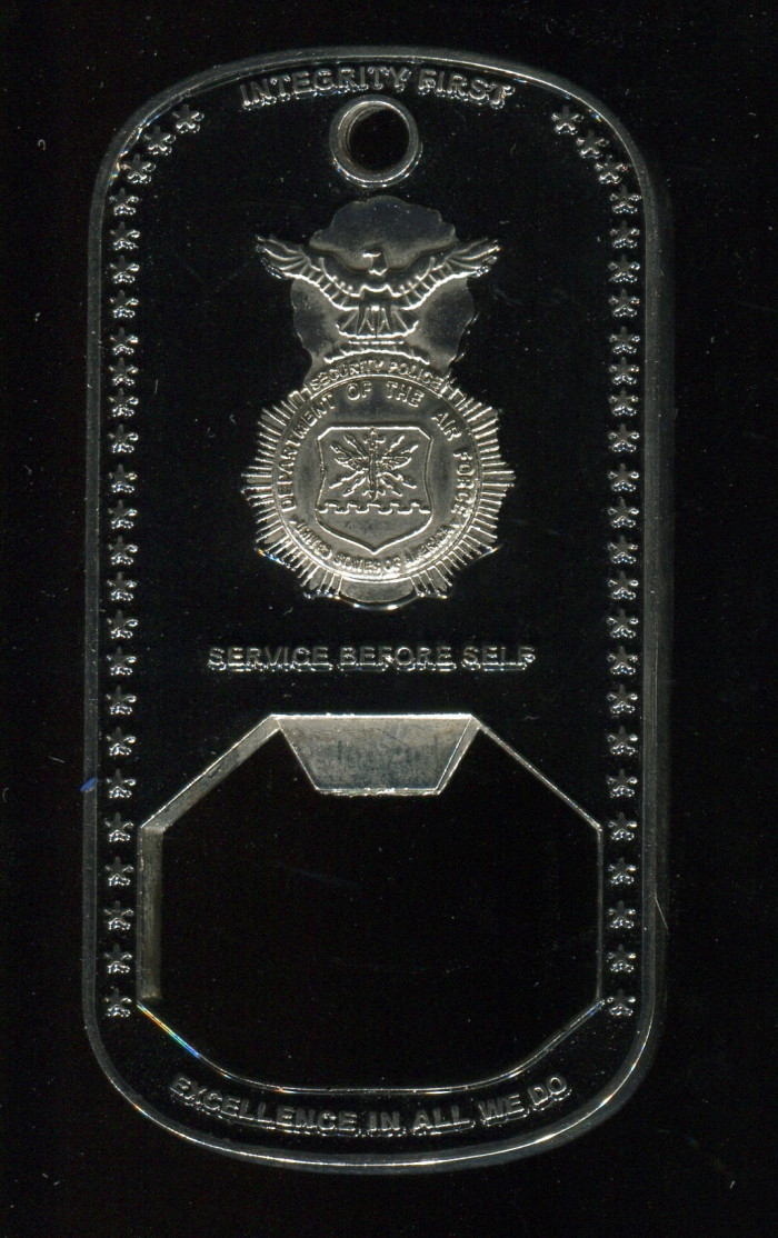 17th Security Squadron Coin. Side B pictured.
