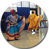Dancers at a multicultural event held on the ASU Campus.