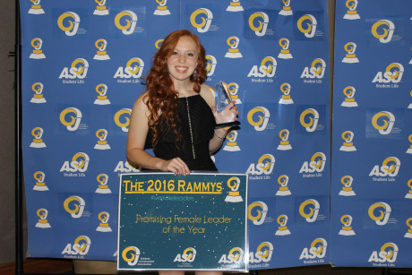 Emily Hecox accepting her Rammy Award