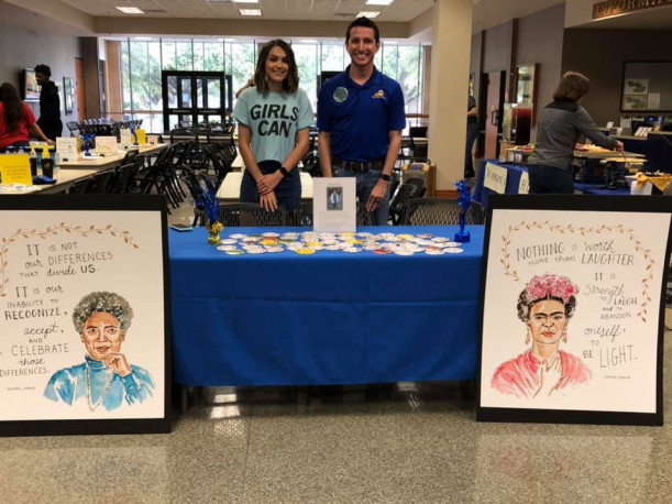 Women's History Month Table
