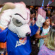 Roscoe Ram dancing at the Dance Marathon